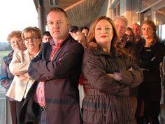 Presenter Norah Casey, boss Darren Lawlor and the staff of Navan Golf & Racecourse.