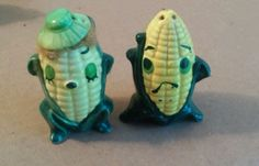 Vintage Salt and Pepper Shaker Set: Corn Cobs Anthropomorphic in Collectibles, Decorative Collectibles, Salt & Pepper Shakers | eBay