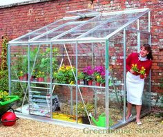 Eden Lean-to Greenhouse with horticultural glazing. Buy online now at the best UK prices and free delivery.
