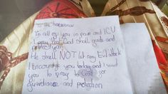This is a hand writing prayers from children in my estate in Nigeria. 這是一位住在我們社區的小女孩的手寫祝福 。