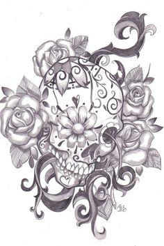 Awesome sugar skull tattoo stiligececilie