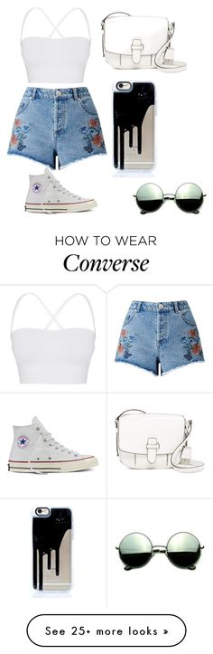 """Sem título #811"" by niallisprfct on Polyvore featuring Miss Selfridge, Theory, Converse, MICHAEL Michael Kors and Revo"