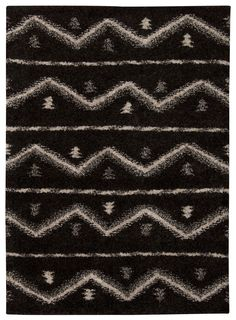 Nourison Tangier Black Area Rug TAN04 BLK (Rectangle)