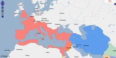 ➯ Ver en Pinterest: #106 #Mapa de Europa, Oriente Medio y África del Norte, Año 375.  Fuente: geacron.com