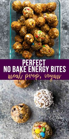 Showing you how to make PERFECT no bake energy bites- never crumbly, full of flavor, and 7 different flavor add ins! Great for kids or a snack on the go. Healthy Chips, Healthy Sweet Snacks, High Protein Snacks, Sweet Treats, Vegan Dessert Recipes, Snack Recipes, Camping Recipes, Healthy Recipes, Desserts
