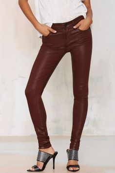 Citizens of Humanity Rocket Skinny Jeans - Oxblood - Clothes