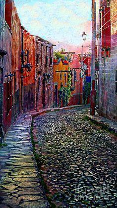 Twilight In San Miguel De Allende Photograph by John Kolenberg