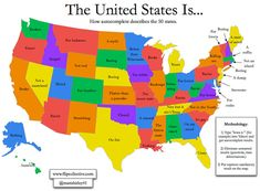 States of US with Abbreviations  Maps  Pinterest  Road trips