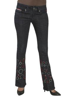 Midnight Blue Boot Cut with Tri Color