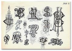 Letterology covers typography, hand lettering, books, ephemera and other topics related to design. Calligraphy Letters, Typography Letters, Typography Logo, Monogram Fonts, Monogram Letters, Letters And Numbers, Vintage Monogram, Vintage Typography, Lettering Design