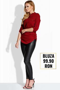 Bluza dama office sau casual din bumbac 99.90 Ron! Ron, Leather Pants, Magazine, Fashion, Leather Jogger Pants, Moda, Fashion Styles, Lederhosen, Magazines