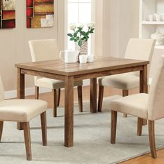 Enjoy Rustic Appeal Without Straying From Traditional Appearances. This  Compact Dining Table Features A 48