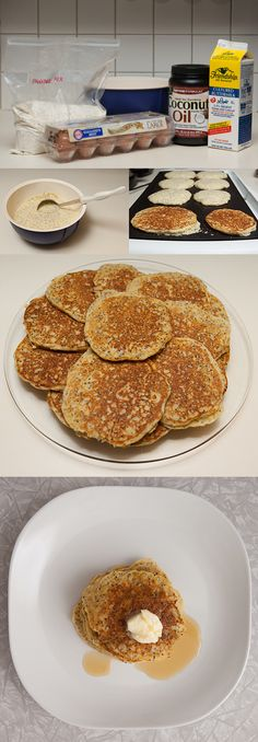 multigrain (and gluten-free) pancakes made with chia seeds