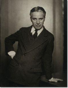 Charlie Chaplin, looking very dapper