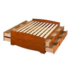 Cherry Queen 12-drawer Tall Platform Storage Bed