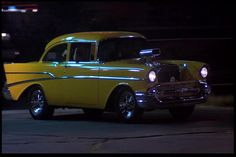 Top 15 Hot Rods From The Movies: Hollywood Knights 57 Chevy Famous Movie Cars, Used Cars Movie, Classic Hot Rod, Classic Cars, 1957 Chevy Bel Air, 1957 Chevrolet, Hollywood Knights, Chevy Models, American Graffiti