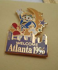 IZZY in the Moon - Welcome Atlanta Olympic Lapel Pin Atlanta Olympics, Lapel Pins, Moon, Christmas Ornaments, Holiday Decor, Ebay, The Moon, Christmas Baubles, Christmas Decor