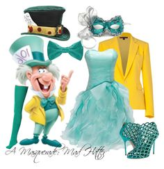 """""""A Masquerade: The Mad Hatter"""" by helsingmusique ❤ liked on Polyvore featuring Ralph Lauren Collection, American Apparel, Sergio Rossi and Masquerade"""