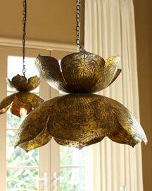 $250 lotus pendant lamp