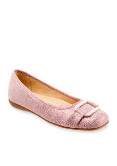 Trotters Pink Metallic Sizzle Flat