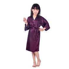 Children's Silk Stain Pure Kimono Wedding Dressing Gown Kimono Robes Bridal Lingerie Sleepwear:   This is our promotion product.We only charged shipping fee.