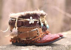boho boots from TheLookFactory on Etsy