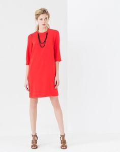 Robe rouge en crêpe Trendy 1 1.2.3
