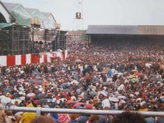 The Who headlined this concert at Charlton Football Ground in The day was very wet and the ground overcrowded due to the number of forged tickets. Charlton London, Charlton Athletic Football Club, Football Odds, Football Stadiums, Basketball Court, Places To Visit, Concert, Sports, Number