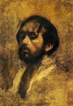 Self Portrait - Artista: Edgar Degas Data da Conclusão: c.1863 Estilo: Impressionism Género: self-portrait Técnica: oil Material: cardboard Galeria: Private Collection