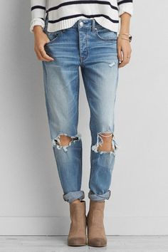 Love these boyfriend jeans for under $30. American Eagle Outfitters AEO Tomgirl Jeans