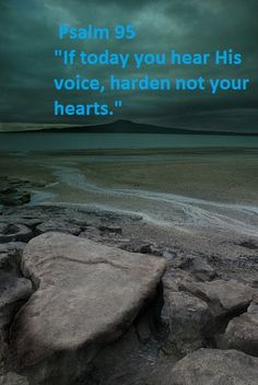 Psalm 95 ~ If today you hear His voice, do not harden your hearts...