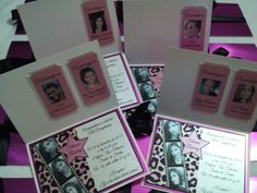 Invitaciones, tarjetas de 15 años