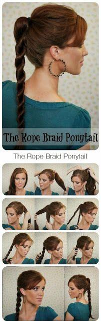 The Rope Braid Ponytail - Hair Tutorial