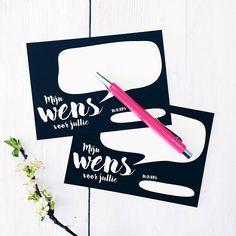 Gastenboek-kaarten waar de gasten een persoonlijke wens op kunnen schrijven voor het bruidspaar. Tip! Leg er een leuk boek bij zodat de kaarten meteen ingeplakt kunnen worden en je een mooie herinnering hebt voor later. • Formaat: 105x148mm (ansichtkaart) • Goed beschrijfbaar Prijs