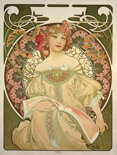 "Alfons Mucha. ""Rêverie"", 1897."