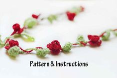 Crochet Necklace Pattern Crochet Flower Necklace by TheSnappyOwl