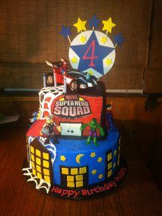 Super Hero Squad cake