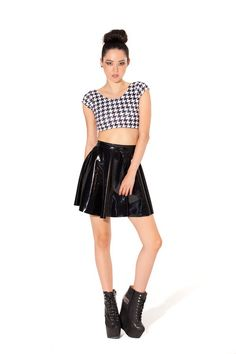 "PVC Skater Skirt › Black Milk Clothing [part of the series ""If i was rich as fuck what would I buy""]"