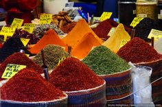 Spices in the Egyptian Bazaar -5 / The bazaars - Landscape wallpapers