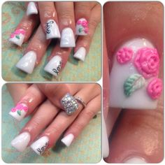 Live, love and flower nails