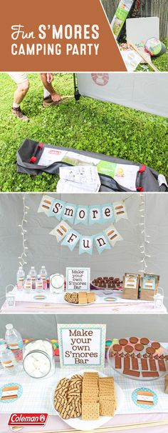 Summer is known for many things, but our two favorites are s'mores and backyard camping! Bring the best of both worlds together with this inspiration for a Fun S'mores Camping Party for your family. To start planning this memorable outdoor get-together, grab the Coleman Instant Canopy with Sunwall​ ​and Coleman Raymer Tall Sleeping Bag​ from Target. Along with a make-your-own s'mores bar, it's not hard to see why this might just be the hit of the season.