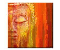Ungerahmter Digitaldruck Buddha auf Leinwand