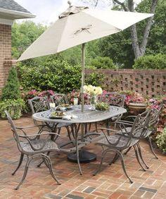 Lucca 4 Seater Round Garden Furniture Set Homebase Garden