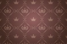 Royal Background, Crown Symbol, Royal Pattern, Gold Crown, Texture Art, Pattern Wallpaper, Interior Design, Brown, Frame