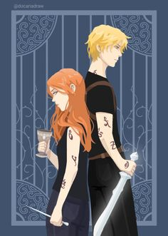 Shadowhunters Clary And Jace, Clary Und Jace, Clary Fray, Livros Cassandra Clare, Cassandra Clare Books, Mortal Instruments Books, Shadowhunters The Mortal Instruments, Fan Art, Clace Fanart