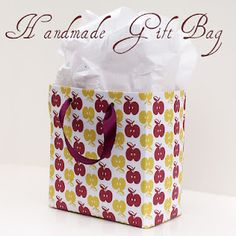 Make your own gift bag from scrapbook paper