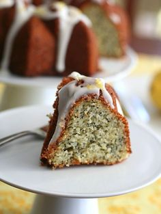 Low Carb & Gluten Free -- Lemon Poppyseed Bundt Cake  ** Coconut Oil instead of butter would make this so much healthier & yummier **