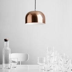 "20 years after its original conception in 1984, the ""Grethe Meyer Lamp"" was put into production for the first time by Menu. http://www.ylighting.com/menu-gm-30-pendant-light.html"