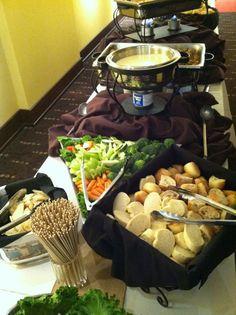 Cheese Fondue bar #fondue #party