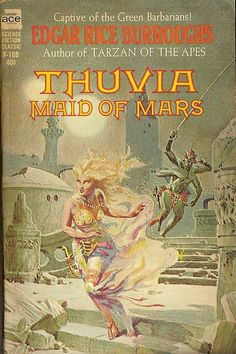 So loving this book right now. Edgar Rice Burroughs: Thuvia maid of Mars.  Ace 1962.  Cover by Roy Krenkel, jr.